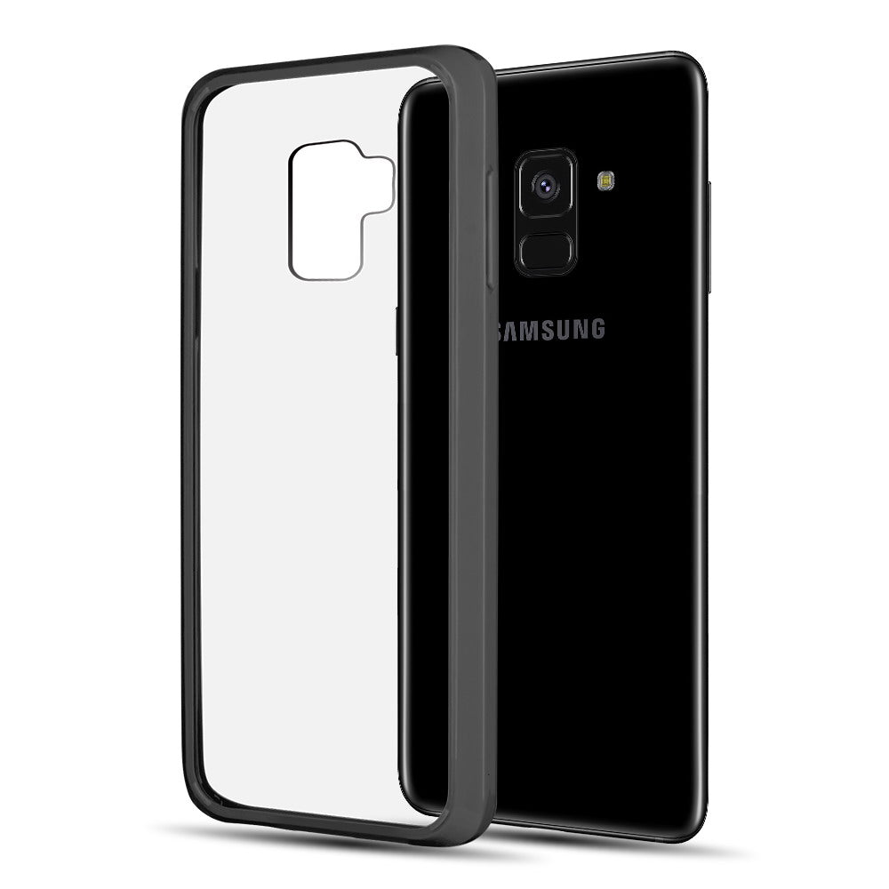 SAMSUNG GALAXY A8 PLUS (2018) FUSION CANDY TPU WITH CLEAR ACRYLIC BACK - BLACK