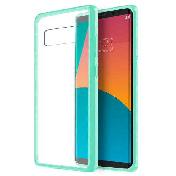 SAMSUNG GALAXY NOTE 8 FUSION CANDY TPU WITH CLEAR ACRYLIC BACK - TEAL