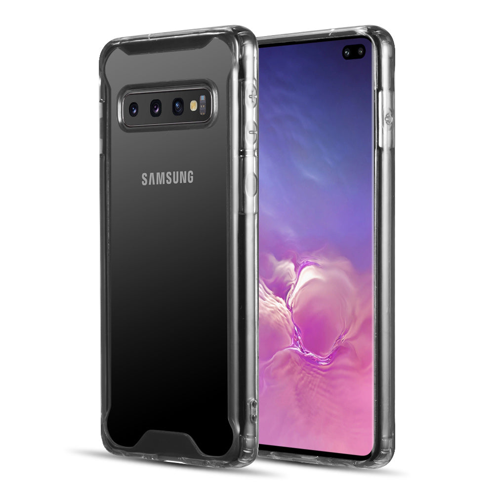 FUSION CANDY TPU WITH CLEAR ACRYLIC BACK SHOCK RESISTANT CASE SERIES 2 FOR GALAXY S10 PLUS - SMOKE
