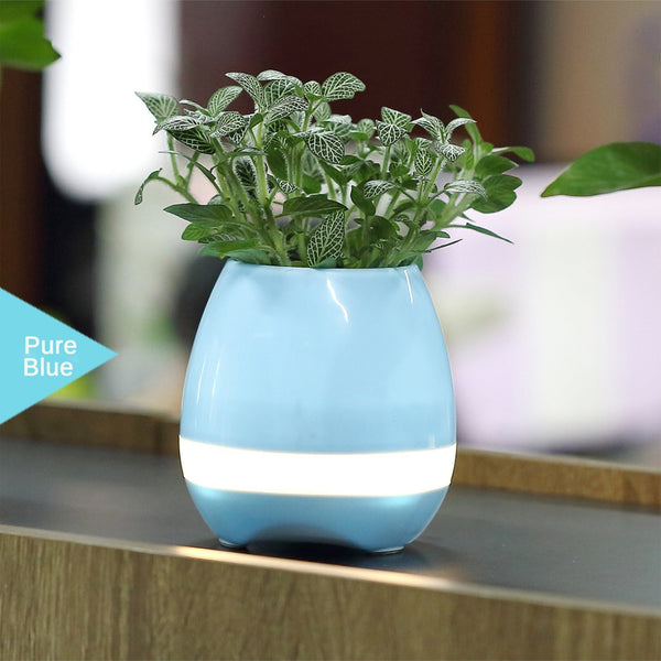 SimplyASP Tech Wireless Bluetooth Speaker Smart Music Playing Flowerpot (Pink/ Blue) - SimplyASP Tech