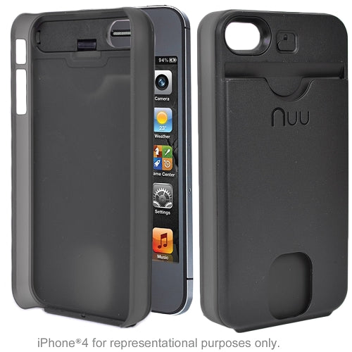 NUU ClickMate Wallet Detachable CardHolder & Foundation Case for iPhone 4/4S