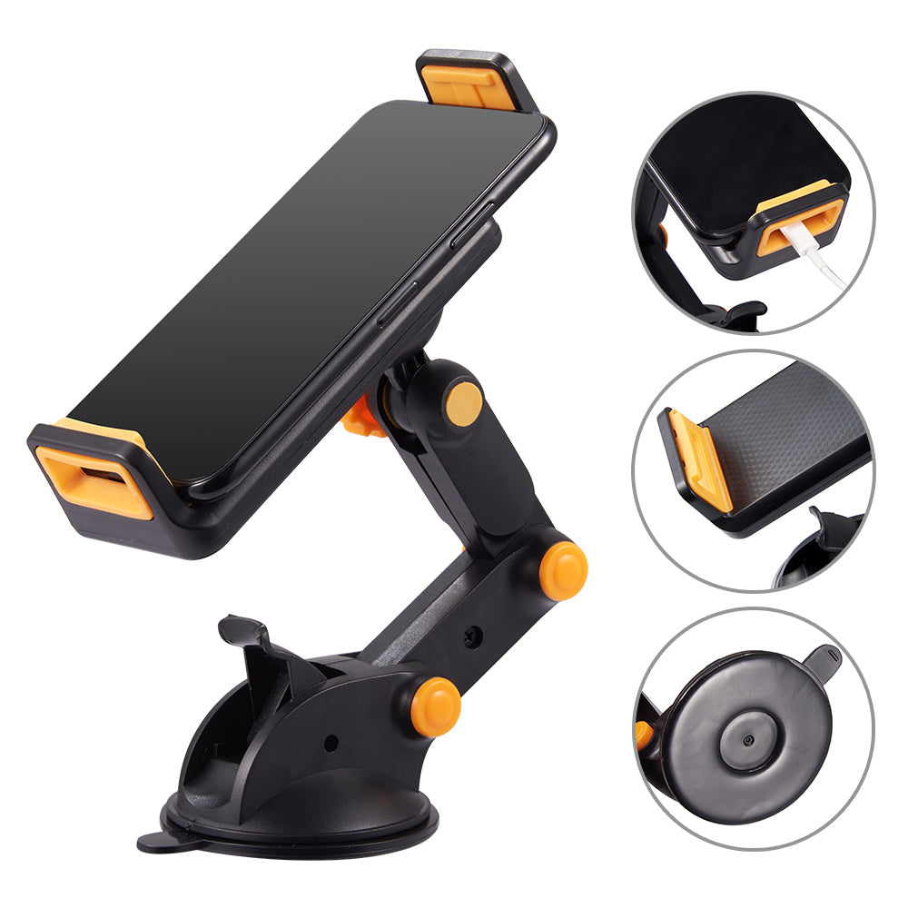 #61 UNIVERSAL CAR MOUNT HOLDER FOR PHONE / TABLET WITH QUICK LOCK AND RELEASE, ADJUSTABLE ARM AND ROTATABLE CRADLE