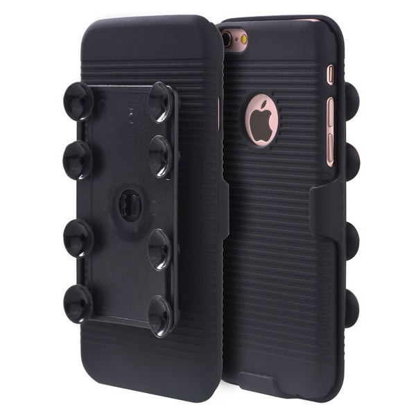 FOR IPHONE 6 / 6S OCTOPUS SUCTION HOLSTER COMBO - BLACK