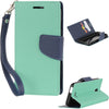 ALCATEL ONE TOUCH ELEVATE DIARY WALLET HOT PINK + NAVY BLUE