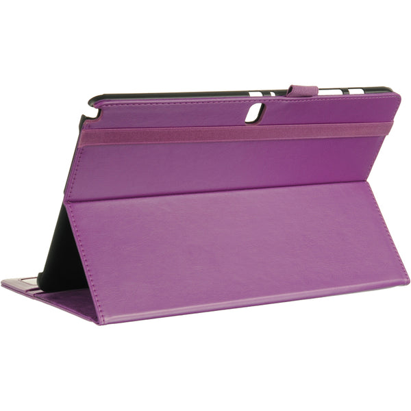 SAMSUNG GALAXY NOTE PRO 12.2 LEATHER POUCH WITH CARD SLOTS + STAND PURPLE