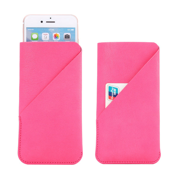 THE SOPHIA POCKET LIGHT SOFT LEATHER EASY SLIP-IN POUCH FOR DEVICE WITH UP TO 5.0