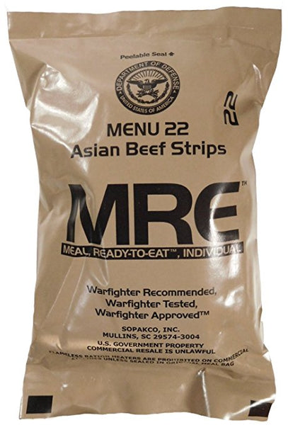 MREs (Meals Ready-to-Eat) Genuine U.S. Military Surplus (1 Pack) Assorted Flavor - SimplyASP Tech
