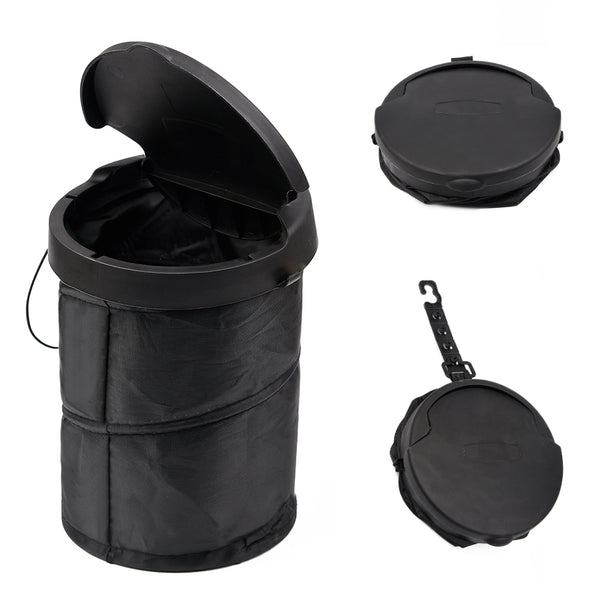 MOBY COLLAPSIBLE POP-UP MOBILE TRASH CAN BIN - BLACK