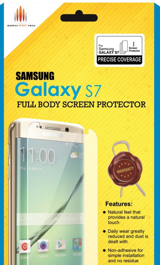 SimplyASP Samsung Galaxy S7 Tempered Glass Screen Protector - SimplyASP Tech
