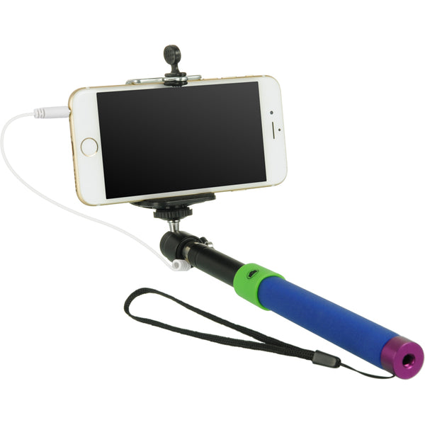 SELFIE STICK WITH WIRE BLUE