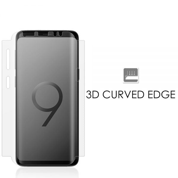 SAMSUNG GALAXY S9 WIDE COVER TPU SCREEN PROTECTOR – CLEAR