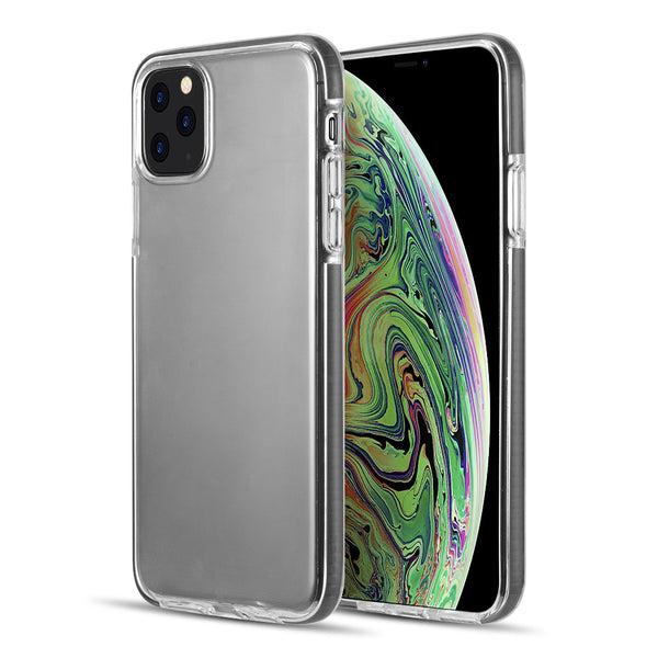 THE INVISIBLE BUMPER ULTRA THIN HYBRID CASE WITH WHITE INNER FLEX PROTECTIVE FRAME FOR IPHONE 11 PRO MAX - BLACK