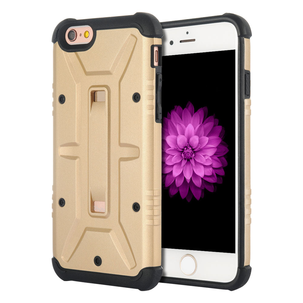 FOR IPHONE 6 / 6S QUANTUM SERIES DUAL HYBRID CASE - GOLD