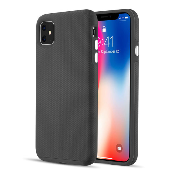EZPRESS ANTI-SLIP TEXTURED HYBRID CASE FOR IPHONE 11 - BLACK