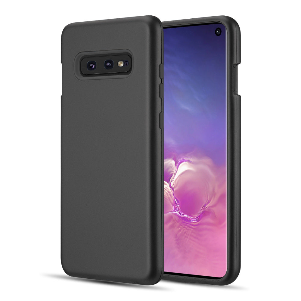 THE DUAL MAX SERIES 2 TONE TPU PC COVER HYBRID PROTECTION CASE FOR SAMSUNG GALAXY S10E - BLACK / BLACK