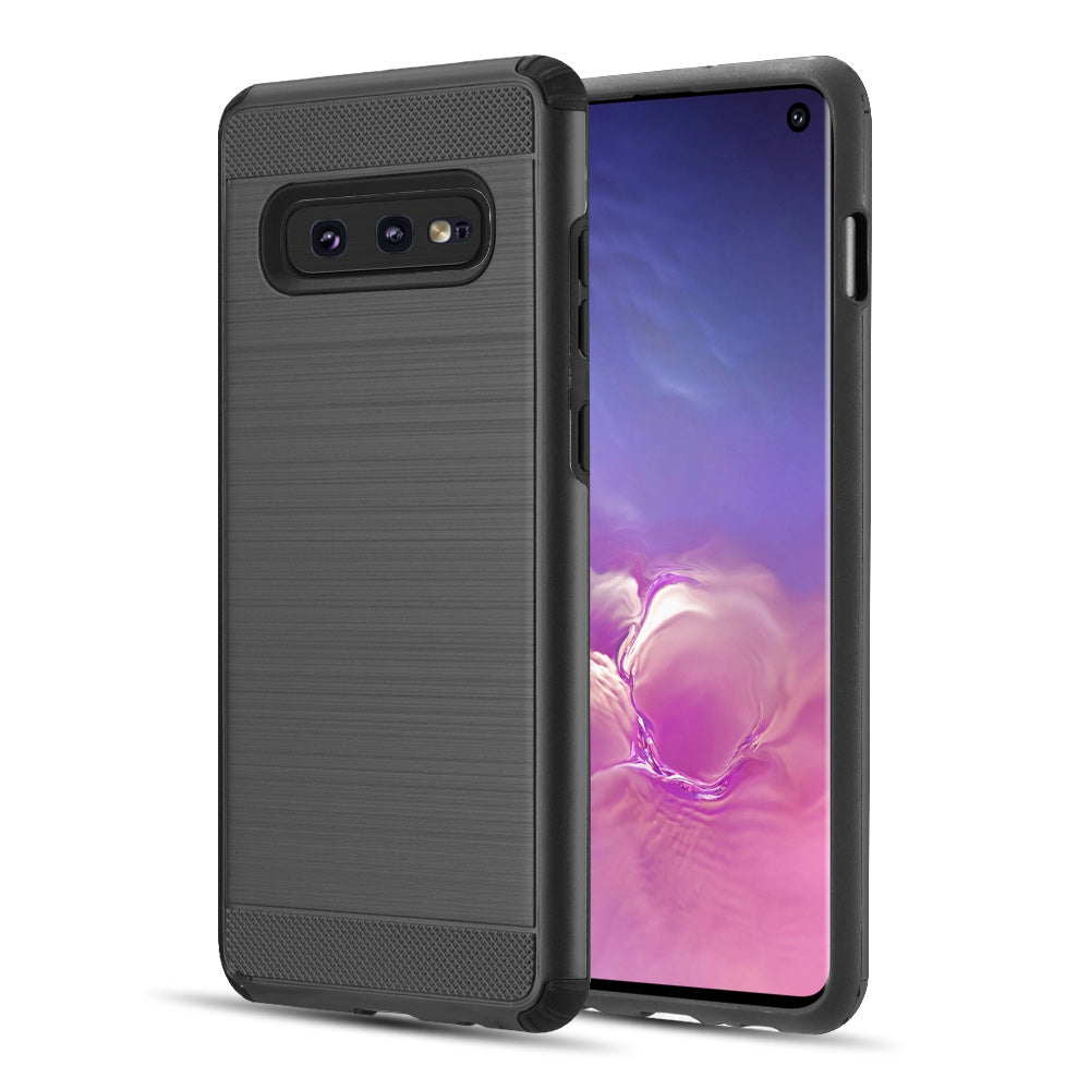 SAMSUNG GALAXY S10E SILKEE ARMOR ANTI SHOCK PC + TPU DUAL HYBRID CASE - BLACK