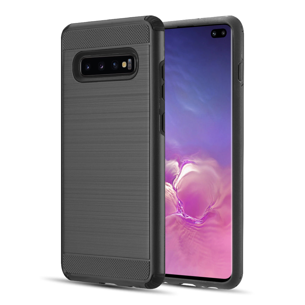SAMSUNG GALAXY S10 PLUS SILKEE ARMOR ANTI SHOCK PC + TPU DUALHYBRID CASE - BLACK