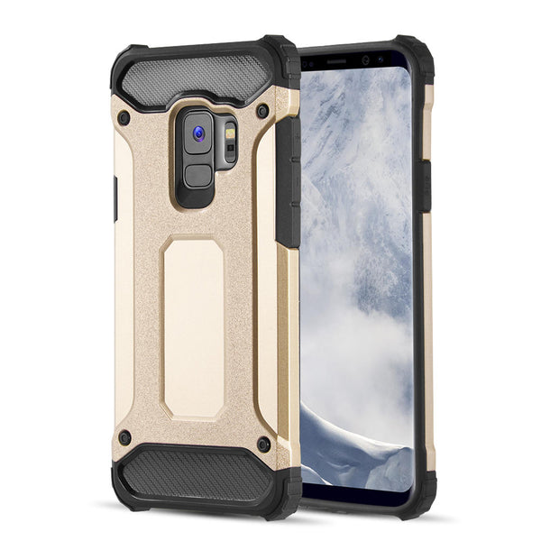 SAMSUNG GALAXY S9 PERFORMANCE DUAL HYBRID TPU + PC CASE - GOLD