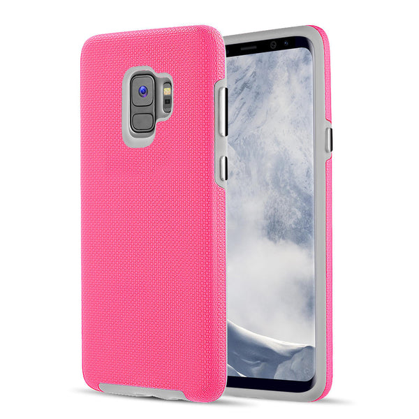 SAMSUNG GALAXY S9 EZPRESS ANTI-SLIP HYBRID CASE - HOT PINK