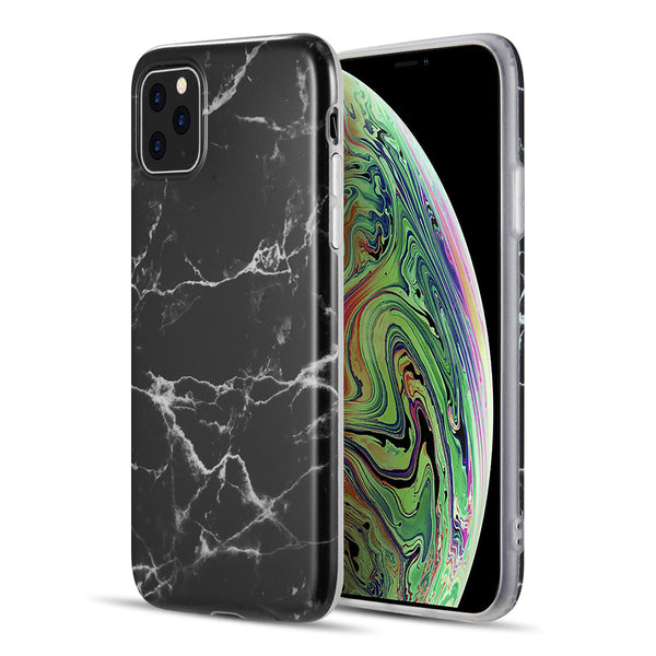 MARBLE IMD SOFT TPU CASE FOR IPHONE 11 PRO MAX - BLACK