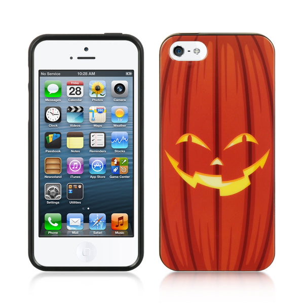 FOR IPHONE 5 / 5S / SE COMPATIBLE TPU IMD CASE HALLOWEEN ORANGE