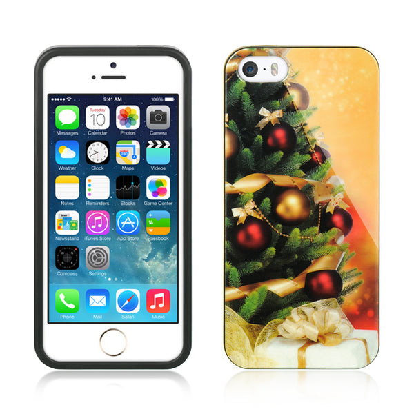 FOR IPHONE 5 / 5S / SE COMPATIBLE TPU IMD CASE CHRISTMAS TREE