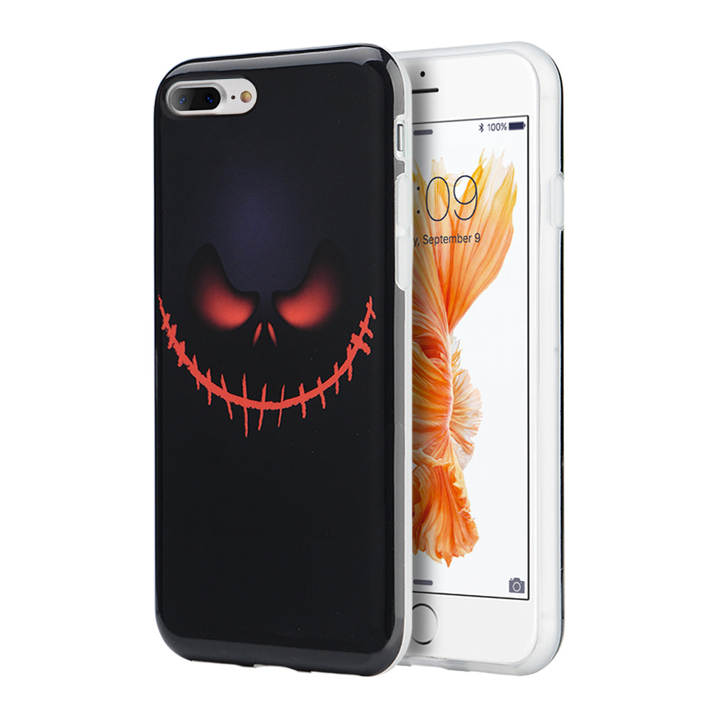 FOR IPHONE 8 PLUS/ FOR IPHONE 7 PLUS HALLOWEEN SERIES IMD TPU CASE - BLACK PIRATE
