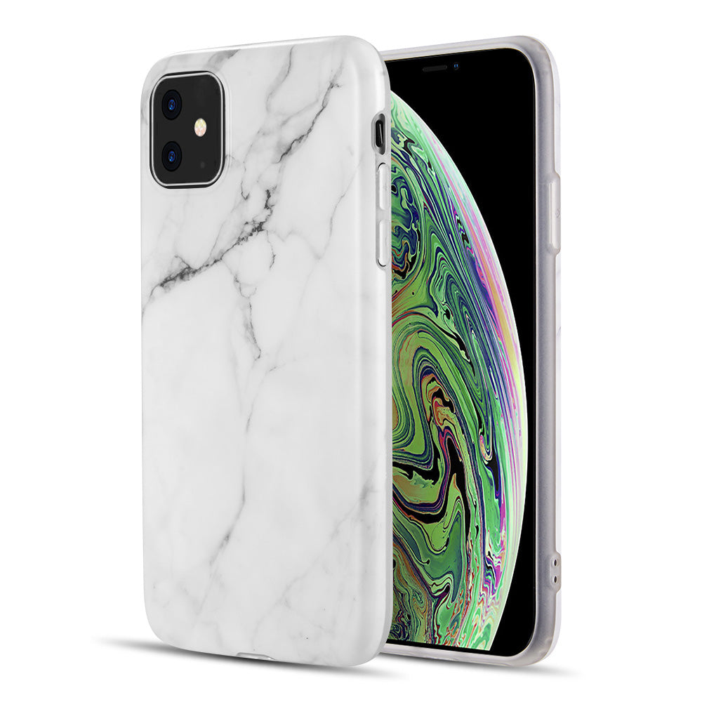 MARBLE IMD SOFT TPU CASE FOR IPHONE 11 - WHITE