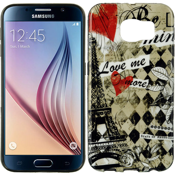 SAMSUNG GALAXY S6 TPU IMD CASE PARIS AMOUR