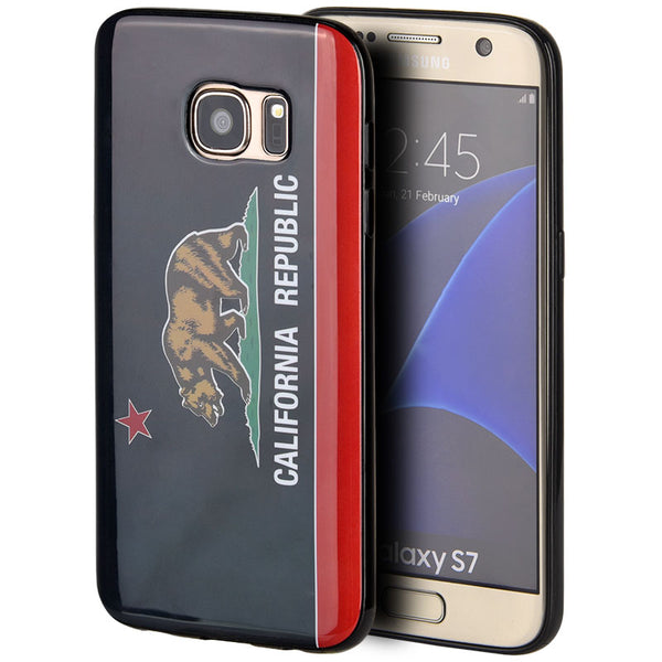 SAMSUNG GALAXY S7 BLACK TPU IMD CASE CALIFORNIA