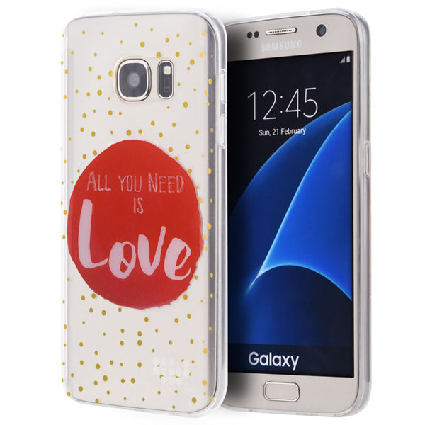 SAMSUNG GALAXY S7 TPU WATER COLOR IMD CASE JUST NEED LOVE