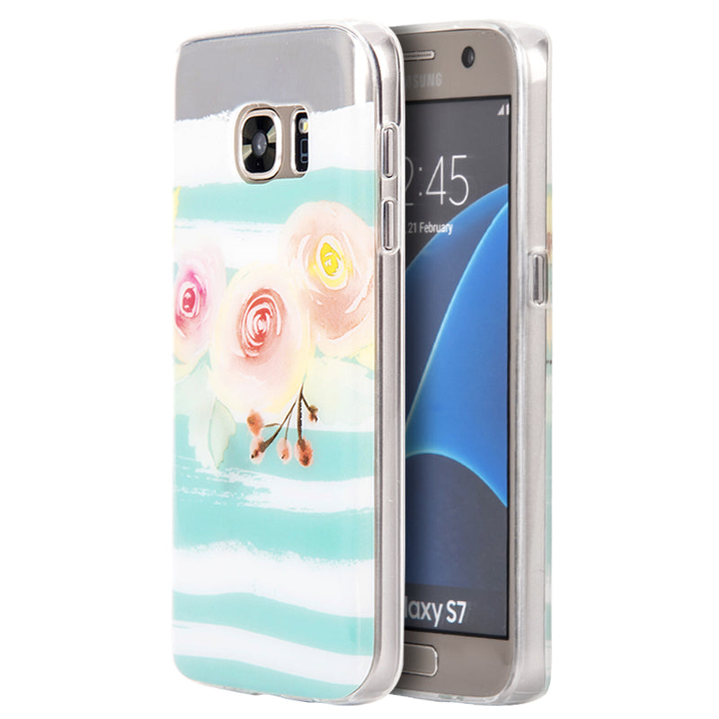 SAMSUNG GALAXY S7 TPU WATER COLOR IMD CASE PEACH BLOSSOM