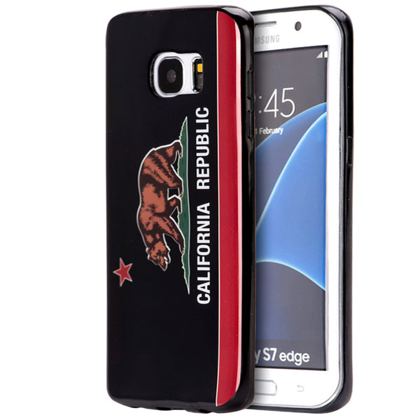 SAMSUNG GALAXY S7 EDGE BLACK TPU IMD CASE CALIFORNIA