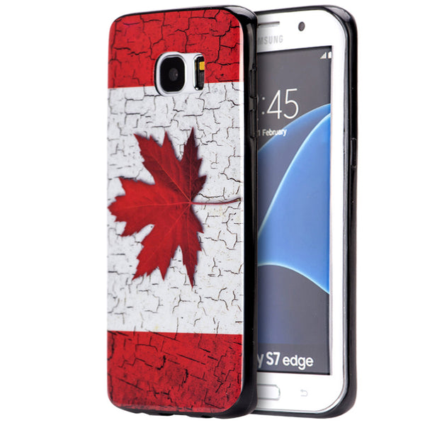 SAMSUNG GALAXY S7 EDGE TPU IMD CASE FLAG CANADA