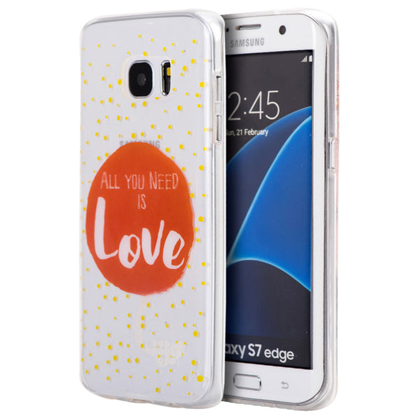 SAMSUNG GALAXY S7 EDGE TPU WATER COLOR IMD CASE JUST NEED LOVE