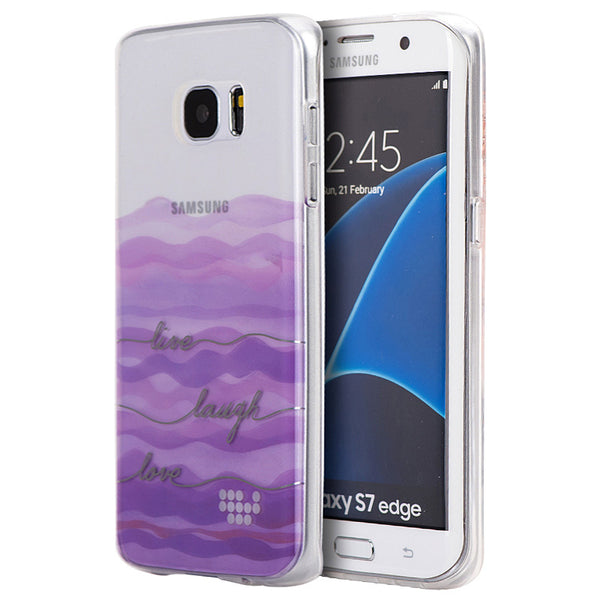 SAMSUNG GALAXY S7 EDGE TPU WATER COLOR IMD CASE LIVE LAUGH LOVE
