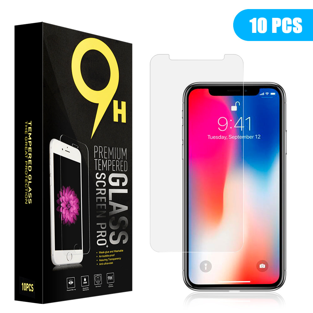 FOR IPHONE 11 PRO IPHONE XS / X TEMPERED GLASS SCREEN PROTECTOR 0.33MM ARCIN - 10 PACKS