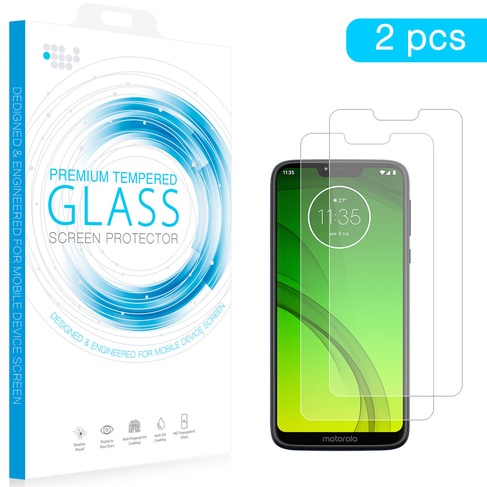 MOTO G7 POWER TEMPERED GLASS SCREEN PROTECTOR 0.26MM ARCING 2PCS