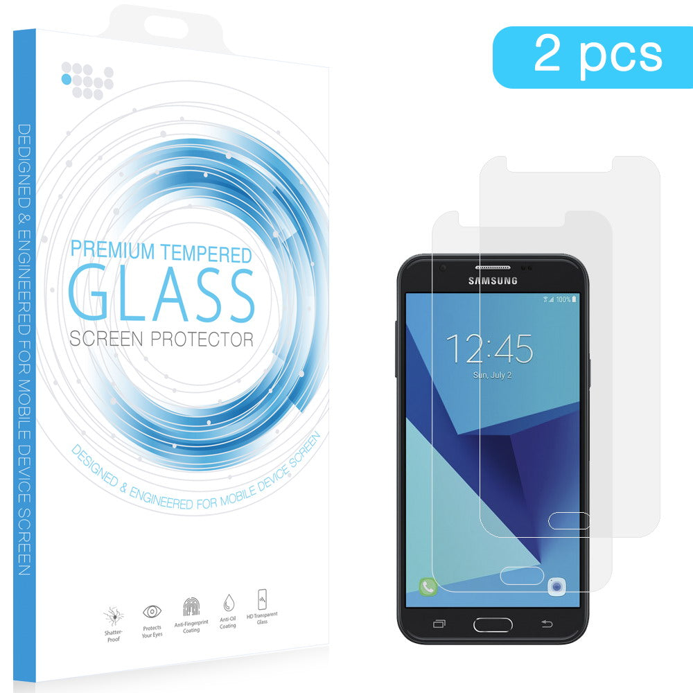 SAMSUNG GALAXY J7 REFINE (J7 TOP) TEMPERED GLASS SCREEN PROTECTOR 0.33MM ARCING - 2 PCS