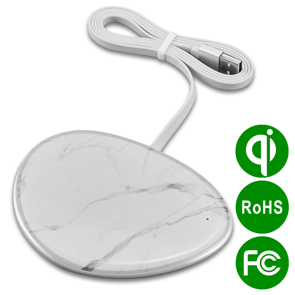 UNIVERSAL PEBBLE MARBLE WATERPRINT QI CERTIFIED 10W WIRELESS