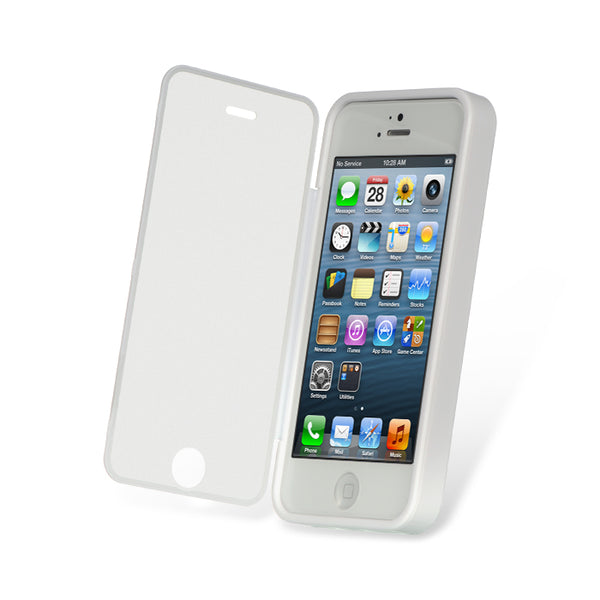 FOR IPHONE 5 / 5S / SE WRAP-UP W/SCREEN PROTECTOR CASE WT