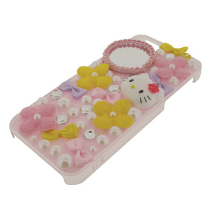 Hello Kitty FOR IPHONE 5 / 5S / SE Deco Case / Flower Pink
