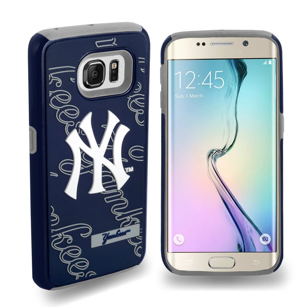 NEW YORK YANKEES DUAL HYBRID 2-PIECE SAMSUNG GALAXY S6 EDGE COVER-TPU