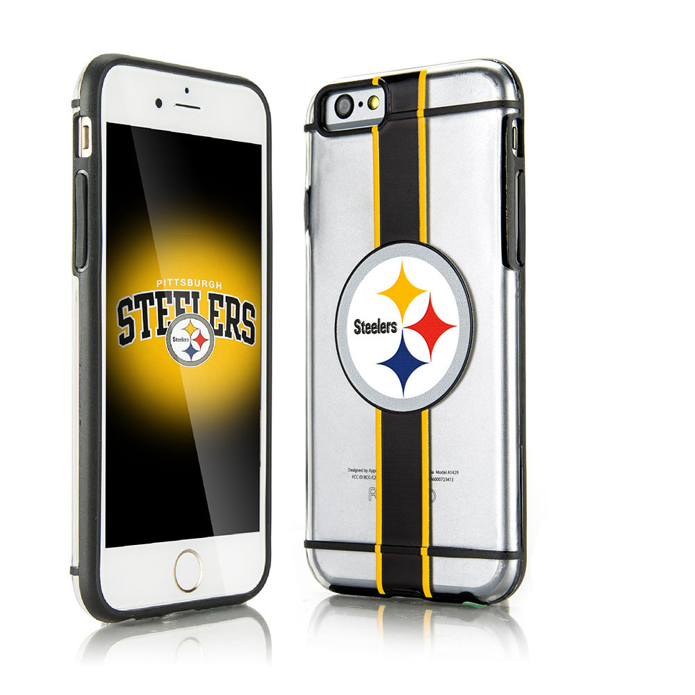 PITTSBURGH STEELERS HYDROCLEAR ULTRA-SLIM 3D UV PRINT FOR IPHONE 6S / 6 TEXTURED SMU CASE