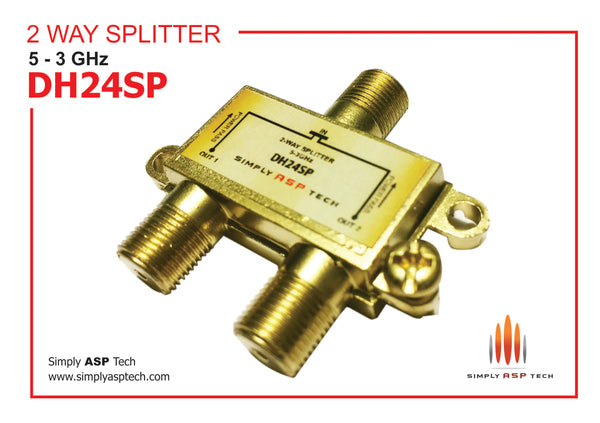 SimplyASP Tech Two Way 3 Ghz Bi-Di Splitter
