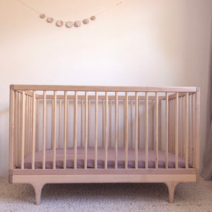 COT SIZE ROSEWOOD FITTED SHEET