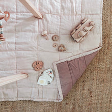Load image into Gallery viewer, PEONY + ROSEWOOD QUILTED BLANKET / PLAYMAT