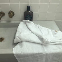 Load image into Gallery viewer, WHITE HOODED WAFFLE TOWEL