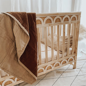 ALMOND + MUD QUILTED BLANKET / PLAYMAT