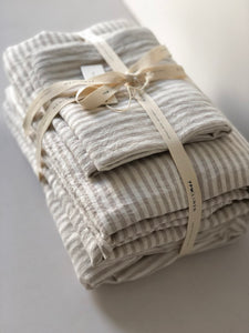 NATURAL STRIPE SHEET SET
